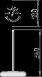 Apvalus termometras matmenys