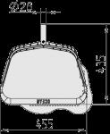 Lapų semtuvo matmenys