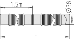 žarna vakuuminė d38 mėlyna matmenys