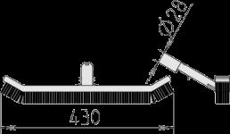 Šveitimo šepetys matmenys
