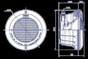 07856-astralpool-šviestuvas-matmenys