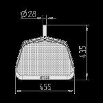 Lapų semtuvo negilus matmenys